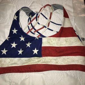 7de68222c5 Born Primitive Intimates   Sleepwear - NEW!Born Primitive American Flag  Sports Bra Medium